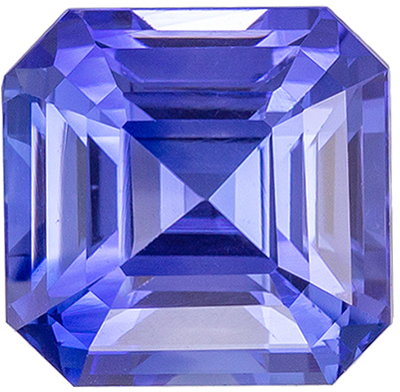 Brilliant Rare Sapphire Natural Gem, 1.63 carats, Cornflower Blue, Emerald Cut, 6.2 x 6mm