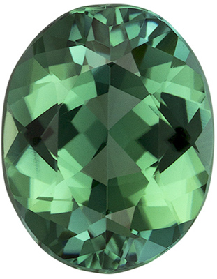1.64 carats Blue Green Tourmaline Loose Gemstone in Oval Cut, Rich Blue Green, 8.8 x 6.9 mm