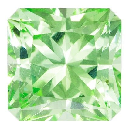 Loose Green Tourmaline Gemstone, Radiant Cut, 1.64 carats, 6.9 mm , AfricaGems Certified - A Hard to Find Gem