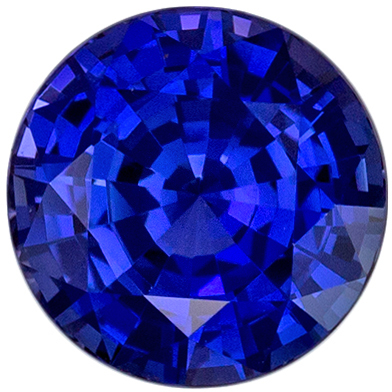 Highly Requested Sapphire Natural Gem, 6.9 mm, Rich Royal Blue, Round Cut, 1.65 carats