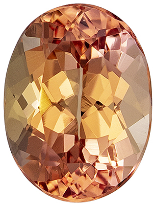 Gorgeous 1.65 carat Imperial Topaz Gemstone in Oval Cut 8.1 x 6 mm