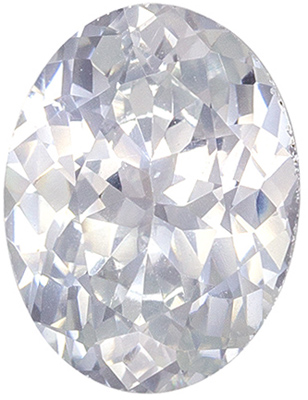 Wonderful Sapphire Loose Gem, 1.65 carats, Colorless White, Oval Cut, 8.4 x 6.4 mm