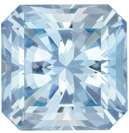 Beautiful Blue Aquamarine Gem, 1.67 carats, Radiant Cut, 7.3 mm , Great Deal on This Gem