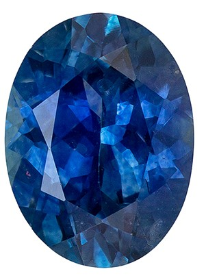 Attractive Gem in 1.67 Carat Greenish Blue Sapphire Oval, Very Fine Color in Perfect Calibrated 8 x 6mm Size