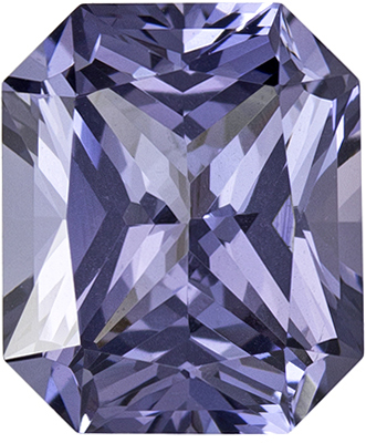 1.67 carats Cut Lavender Platinum Spinel Loose Gem, Lavender Platinum in Radiant Cut  7.4 x 6.2 mm