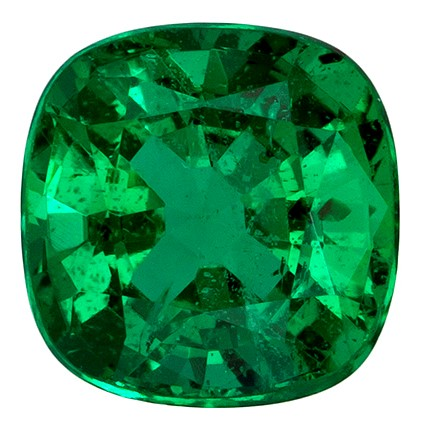 Natural Vibrant Emerald Gemstone, Cushion Cut, 1.68 carats, 7.3 x 7.1 mm , AfricaGems Certified - A Deal