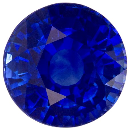 Must See Blue Sapphire Genuine Gemstone, 1.7 carats, Round Cut, 6.7 mm , High Quality Gemstone