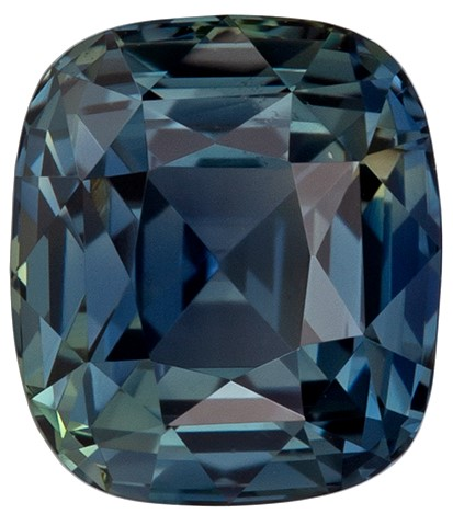 Genuin Blue Green Sapphire Faceted Gem, 1.71 carats, Cushion Cut, 6.5 x 5.7  mm , High Quality Gemstone