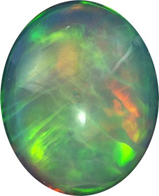 Fine Quality  1.71 carat Ethiopian Opal Gemstone in Oval Cut 10.5 x 8.5 mm