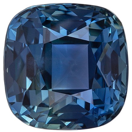 Loose Natural Blue Green Sapphire Genuine Gem, 1.74 carats, Cushion Cut, 6.3 x 6.2  mm , Great Deal on This Gem