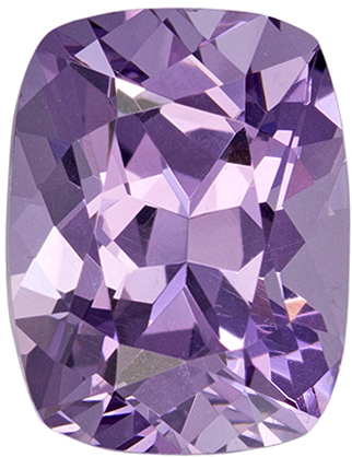 1.75 carats Elegant Purple Spinel Gemstone in Pinkish Purple Color in 7.9 x 6.1 mm Cushion Cut Gemstone