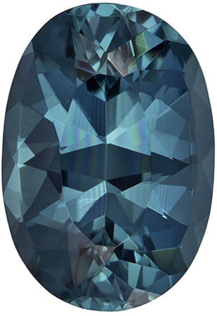 1.76 carats Blue Tourmaline Loose Gemstone in Oval Cut, Teal Blue, 9.6 x 6.6 mm