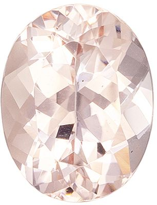 Highly Requested Morganite Loose Gem 1.76 carats, Oval Cut, Peach Pink, 9 x 7 mm