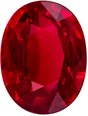 Bright & Lively Ruby Quality Gem, 1.76 carats, Rich Pigeons Blood Red, Oval Cut, 8.2 x 6.2mm
