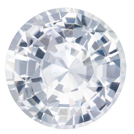 Selected White Sapphire Gemstone, 1.77 carats, Round Cut, 7.2 mm, A Beauty of a Gem