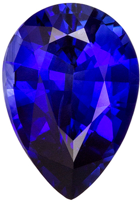 Great Sapphire Genuine Gem, 9.2 x 6.5mm, Medium Rich Blue, Pear Cut, 1.78 carats