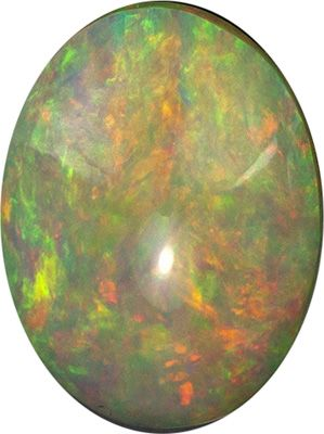 Beautiful Gem in 1.8 carat Ethiopian Opal Gemstone in Oval Cut 10.3 x 8 mm