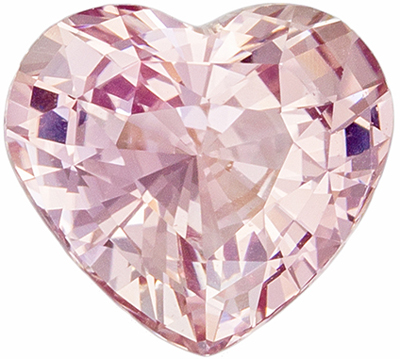 Very Attractive GIA Certified Sapphire Genuine Gem, 7.77 x 7.05 x 4.51 mm, Medium Peach, Heart Cut, 1.81 carats