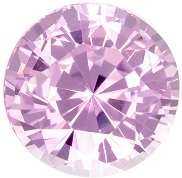 Nice Looking Round Cut Pink Sapphire Gem, 6.7 mm, Light Baby Pink Color, 1.83 carats