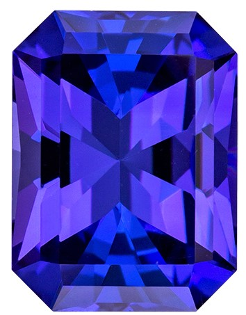 Natural Stunning Blue Purple Tanzanite Loose Stone, 1.86 carats, Radiant Cut, 8.3 x 6.4  mm , High Quality - Low Cost Gem