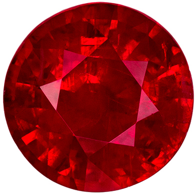 Lovely GIA Certified Ruby Loose Gem, 7.19 x 7.11 x 4.66 mm, Rich Pigeons Blood Red, Round Cut, 1.86 carats