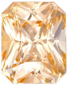 Gorgeous No Treatment GIA Certified Sapphire Quality Gem, 7.34 x 5.79 x 4.79 mm, Intense Orangey Peach, Radiant Cut, 1.87 carats