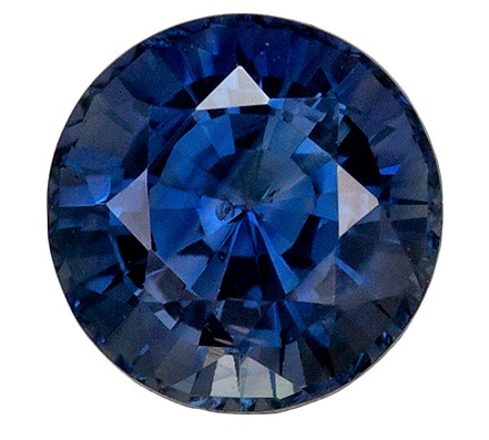Great Buy Blue Green Sapphire Gemstone 1.89 carats, GIA Cert No Heat, Round Cut, 6.89 x 6.98 x 4.98 mm