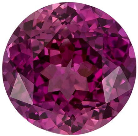 1.89 Carat Rosey Pink Ceylon Sapphire Loose Gem, Pretty Rose Tinged Pink, 7.1 mm