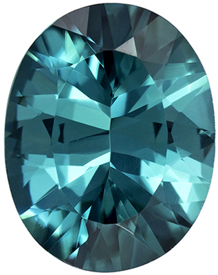 1.89 carats Blue Tourmaline Loose Gemstone in Oval Cut, Open Blue Teal, 9.6 x 7.5 mm