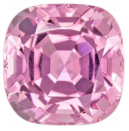 Great Deal on Pink Tourmaline Genuine Gemstone, 1.89 carats, Cushion Cut, 7.1 x 7.1  mm , Wonderful Gem - Great Deal
