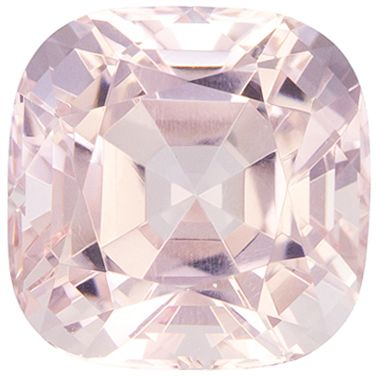 Beautiful 1.9 carats Pink Morganite Cushion Genuine Gemstone, 7.2 mm