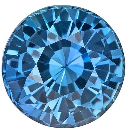 Natural Blue Green Teal Sapphire Gemstone, 1.91 carats, Round Cut, 7 mm, A Great Find On This Gem