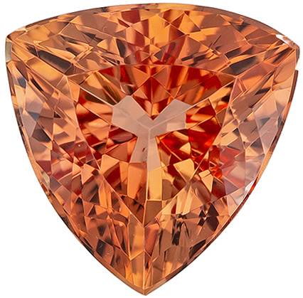 Fiery 1.92 carat Imperial Topaz Gemstone in Trillion Cut 8 mm