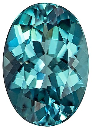 1.93 carats Blue Tourmaline Loose Gemstone in Oval Cut, Vivid Teal Blue, 9.8 x 6.8 mm