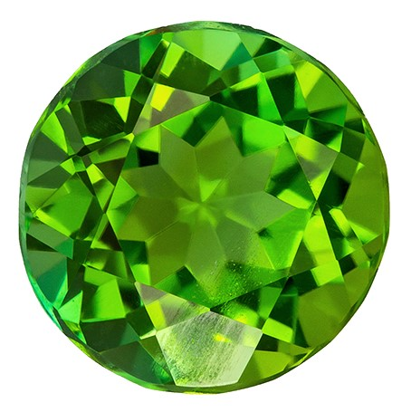 Authentic Green Tourmaline Gemstone, Round Cut, 1.94 carats, 7.8 mm , AfricaGems Certified - A Impressive Gem