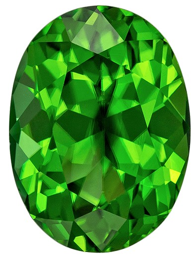 Must See Green Tourmaline Gem, 1.95 carats, Oval Cut, 9.2 x 6.7  mm , High Quality - Low Cost Gem