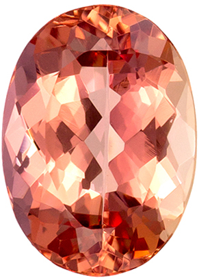 1.96 carats Imperial Topaz Loose Gemstone Oval Cut, Vivid Peachy Sherry, 8.9 x 6.4 mm