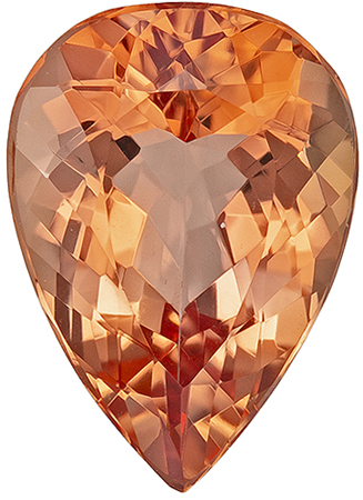 Must See 1.96 carat Imperial Topaz Gemstone in Pear Cut 9.7 x 6.9 mm