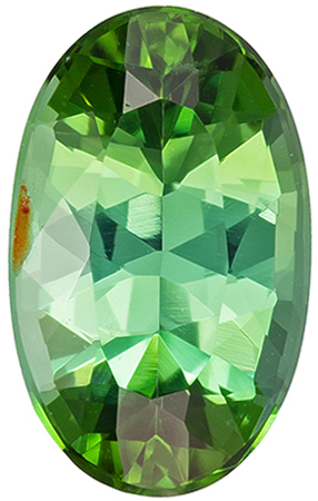 Great Price on 1.97 carat Green Tourmaline Gemstone in Oval Cut 10.2 x 6.3 mm