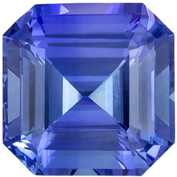 Rare Fine Asscher Cut Blue Cornflower Sapphire Gemstone in 1.98 carat in 6.9mm Size