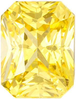 Diamond Like 1.99 carat Yellow Sapphire Radiant Cut Gem, No Heat with GIA Cert. 7.3 x 5.6mm