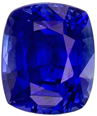 Stunning 1 carats Blue Sapphire Cushion Genuine Gemstone, 6 x 5 mm