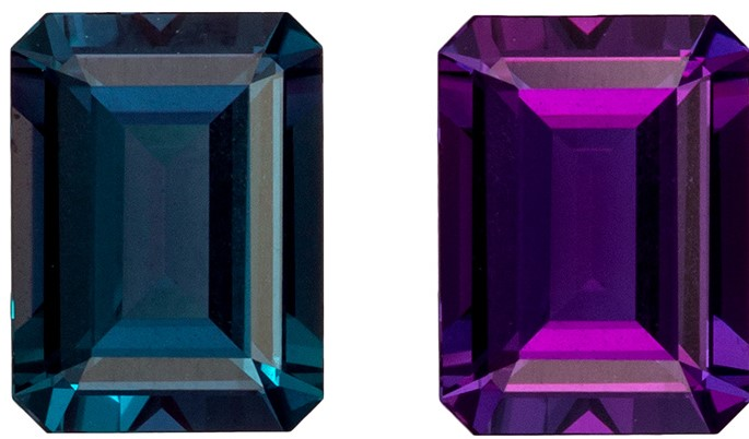 Very Fine Loose Gubelin Certified Alexandrite Gemstone, Special Gem, 1.00 carats, Emerald Cut, 6.58 x 4.91 x 3.1 mm