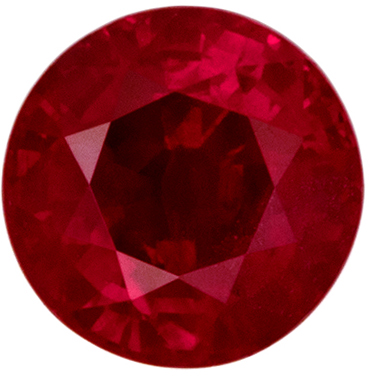 Lovely GIA Certified Ruby Natural Gem, 5.81 x 5.74 x 3.67 mm, Pigeons Blood Red, Round Cut, 1 carats