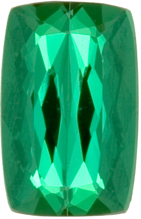 10.0 x 6.4 mm Green Color Paraiba Tourmaline Loose Gem in Antique Cushion Cut, 2.6 carats