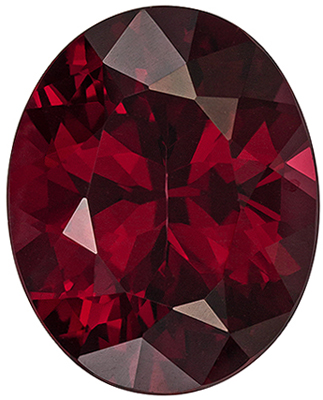 Hard to Find Oval Shape Red Rhodolite Gemstone, 10.12 carats, Rich Raspberry Red, 14.7 x 11.8 mm