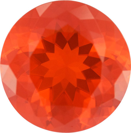 Incredible One of a Kind 10.15 carat Mexican Fire Opal in Fine German Round Cut, 15.2mm!