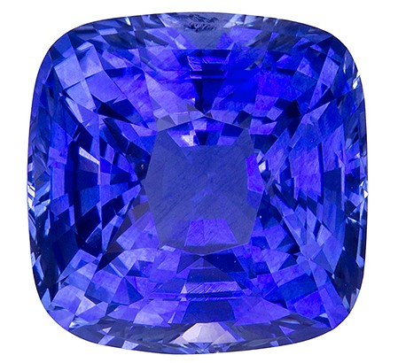 Unset Blue Sapphire Gemstone, Cushion Cut, 10.2 carats, 11.86 x 11.85 x 8.29 mm , GIA Certified - A Great Buy