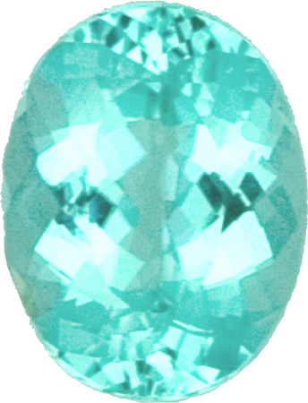 10.2 x 8.0 mm Blue Green Color Paraiba Tourmaline Loose Gem in Oval Cut, 2.91 carats