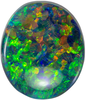 Attractive Opal Natural Gem, 10.3 x 8.9mm, Lightening Ridge Material, Oval Cut, 2.15 carats
